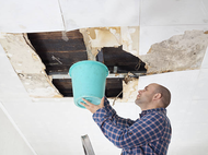 drywall specialists fixing drywall on ceiling in Reading PA